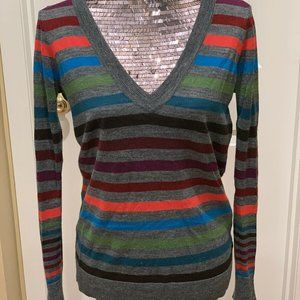 The Limited Womens Sweater Multicolor Gray Striped